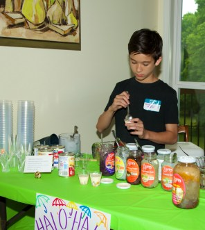 Christian making Halo-Halo at an H4H Fundraising Event to raise awareness