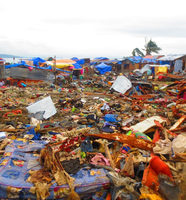 Barangay Anibong in December 2013. The destruction was unimaginable.
