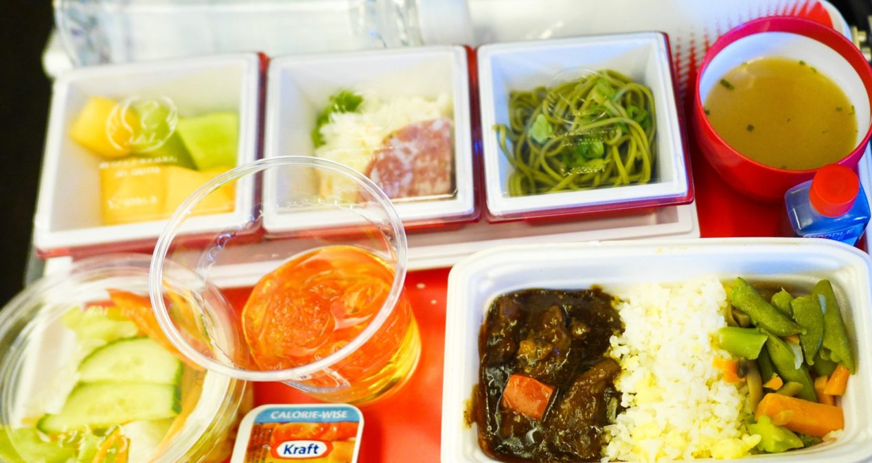 JAL Vancouver to Tokyo Meal