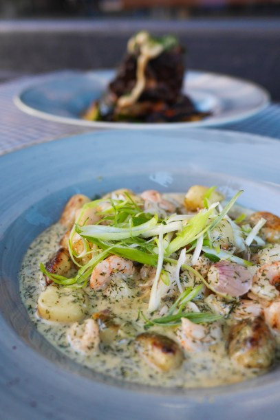 plate of seafood gnocchi