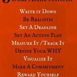 9 Steps To Successful Goal Achievement Poster - Pin This Poster on your wall or cubicle so you can see the 9 Steps you need to follow to Get the Goals You Set.