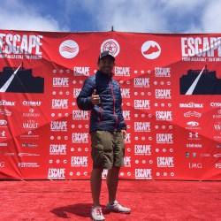 Michael Masangkay at Start Wall before 2015 Escape From Alcatraz Triathlon in San Francisco