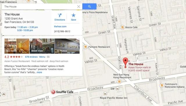 new google maps 2013 info card