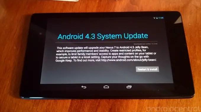 new nexus 7 software update