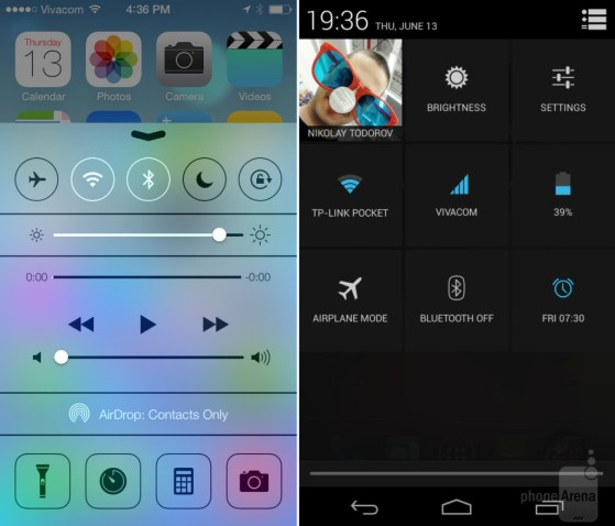 iOS7 vs Android 42