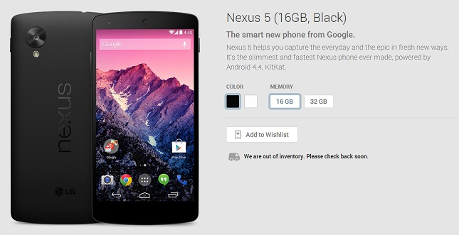 nexus-5-out-of-stock