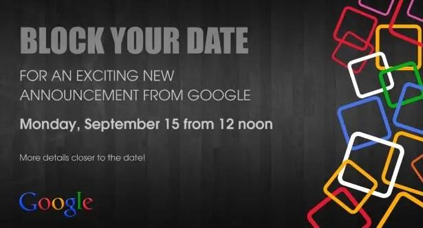 google event india September 15th 2014