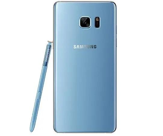 samsung galaxy note 7 blue back