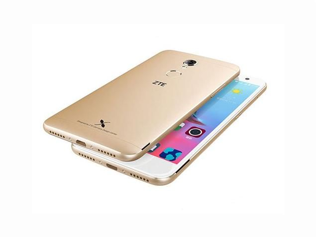 ZTE Small Fresh 4 back and front gold