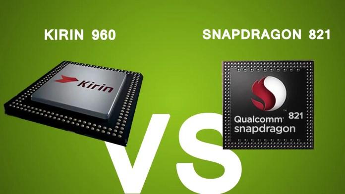 Kirin 960 vs Snapdragon 821