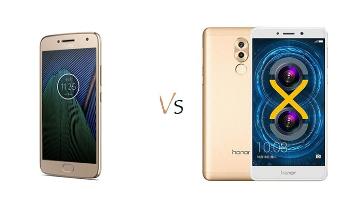 Moto G5 Plus Vs Honor 6X