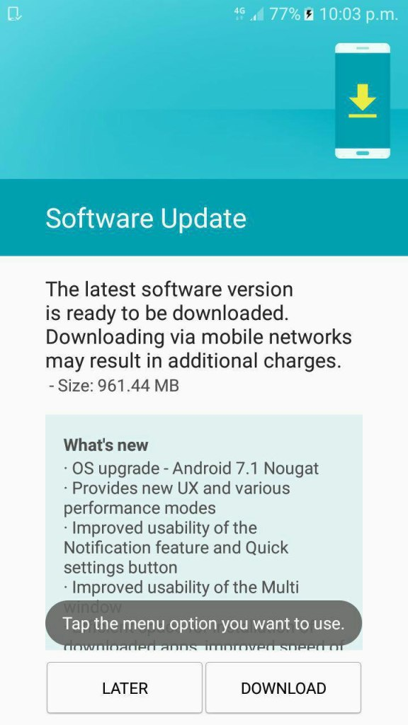 Galaxy On 5 and On 5 Pro Android 7.1 Nougat Update