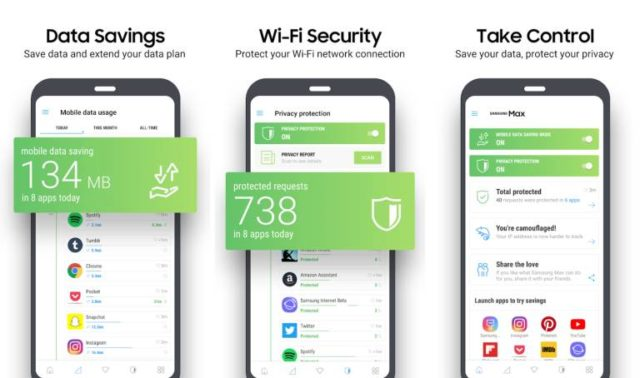 Samsung Max is a new app for data savings and privacy