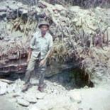 Manuel de Souza at the site of the find