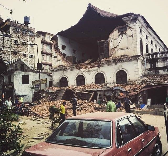 Mass destruction of properties in Nepal after the earthquake