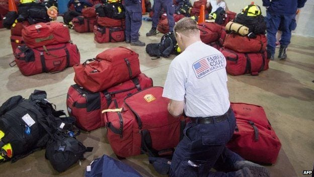 US search and rescue teams are preparing for deployment across Nepal