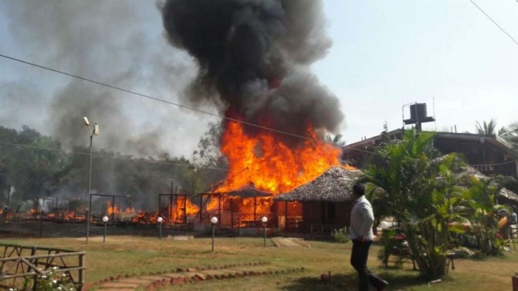 Massive Fire Gutted Nine Air Conditioned Cottages Resort Bagmallo
