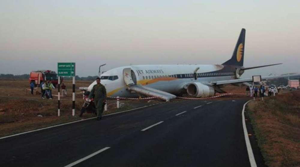 Goa Mumbai Jet Airways Flight Skid Runway 15 Passengers Injured