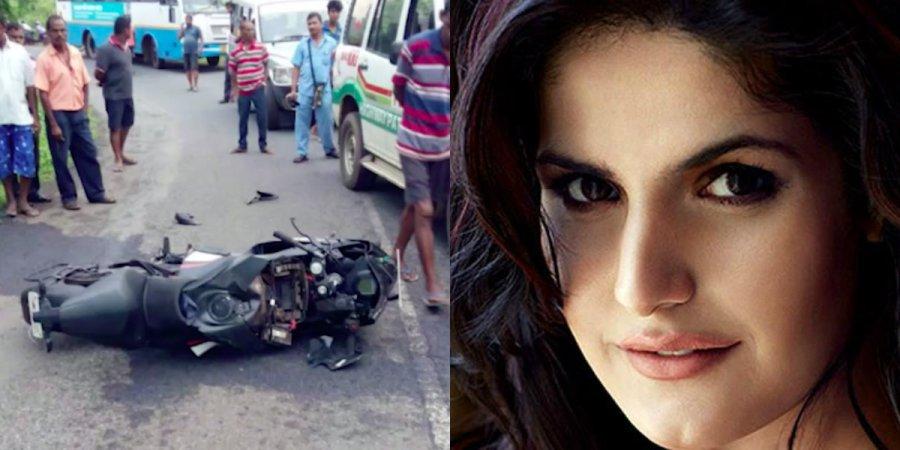 Zareen Khan Car Met with Accident