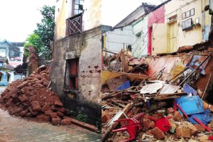 Old Portuguese Structures Collapsed in Panaji