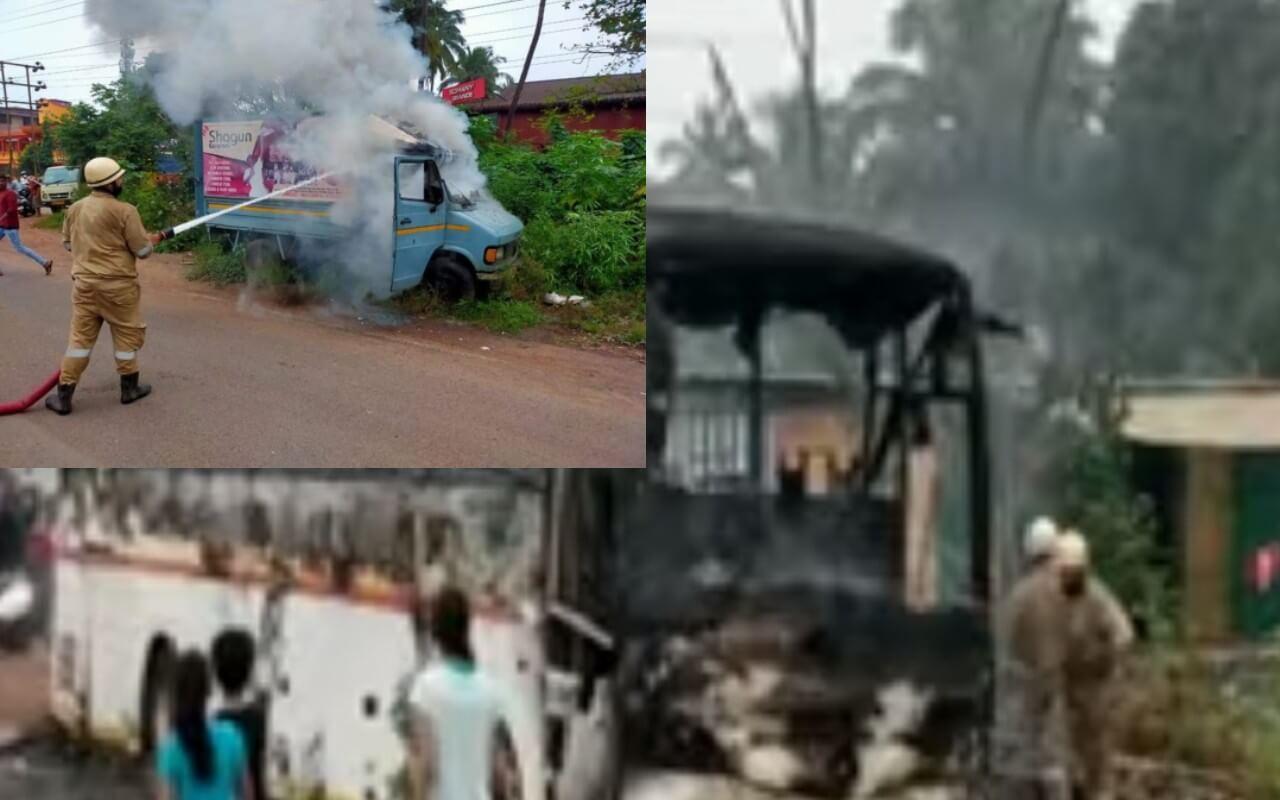 Five Vehicles Set Ablaze