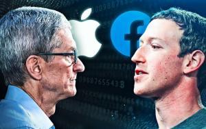 Mark Zuckerberg and Tim Cook