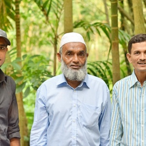 With Father and uncle.... <3 Matlab Chandpur