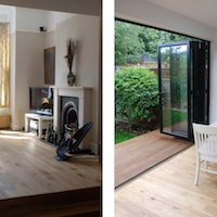 Architect designed house extension East Finchley Barnet N2 Interior spaces Barnet residential architect projects