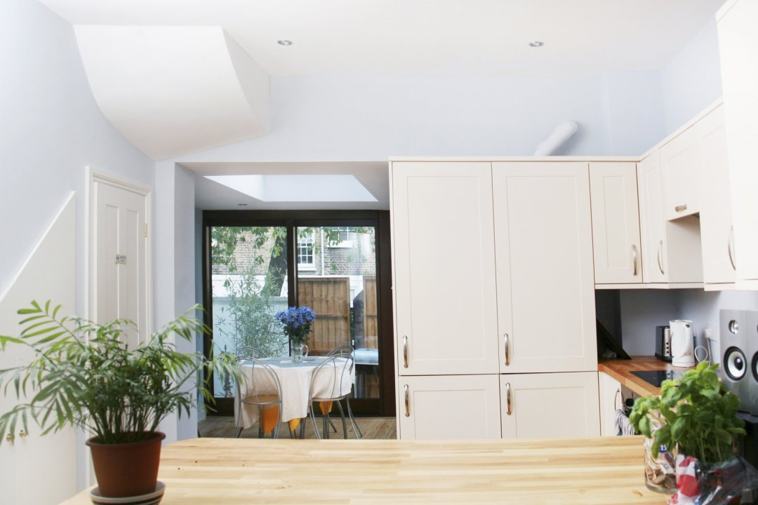 Kings Cross Camden NW1 House extension Kitchen view 1200x800 King's Cross, Camden NW1 | House extension
