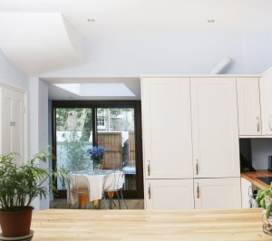 Kings Cross Camden NW1 House extension Kitchen view 300x266 King's Cross, Camden NW1 | House extension