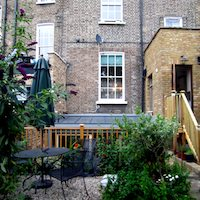 Kings Cross Islington WC1 Listed Building rear flat extension Rear elevation photo Islington residential architect projects
