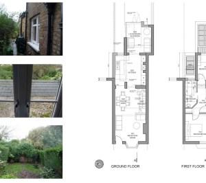 01 St Margarets Richmond TW1 Rear house extension Floor plans 300x266 St Margarets II, Richmond TW1   House extension