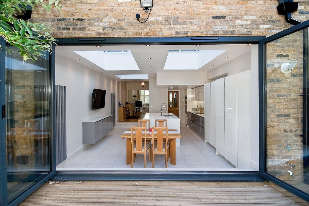Architect designed Putney Wandsworth SW6 kitchen house extension View from the garden 1200x800 Putney, Wandsworth SW6 | Kitchen house extension