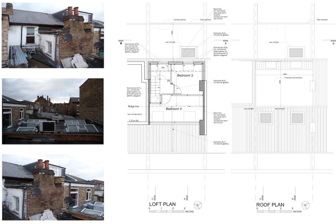 Architect designed flat extension Hammersmith Fulham W12 L R design plans 1200x800 Stamford Brook, Hammersmith and Fulham W12 | Flat extension