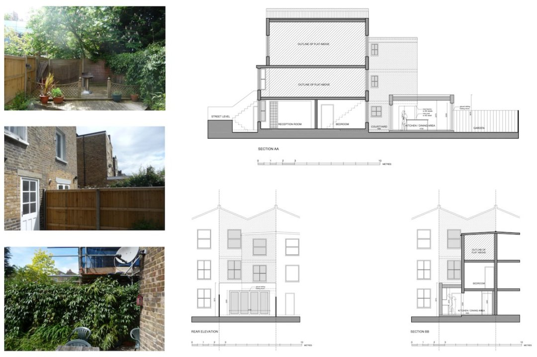 Architect designed flat extension Maida Vale Westminster W9 Sections and elevations 1 1200x799 Maida Vale, Westminster W9 | Flat extension