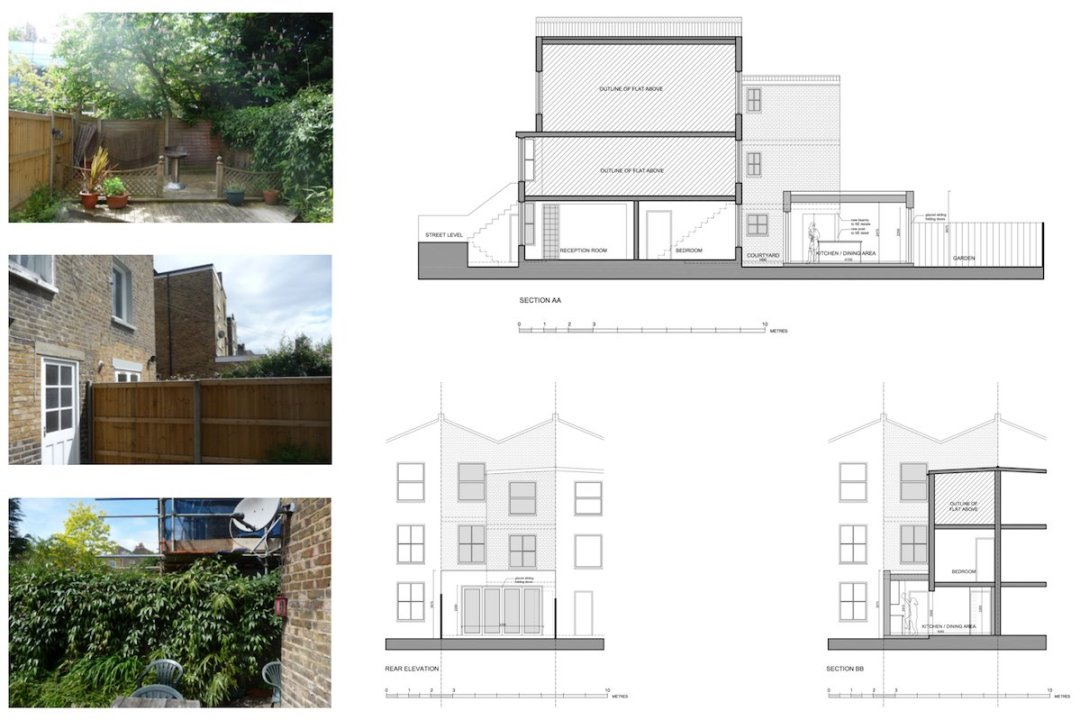 Architect designed flat extension Maida Vale Westminster W9 Sections and elevations 1 1200x800 Maida Vale, Westminster W9 | Flat extension