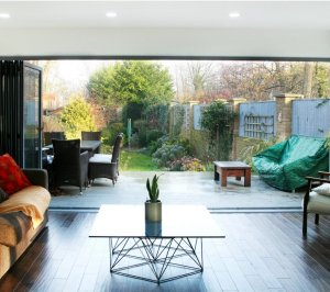 Architect designed house extension Brockley Lewisham SE4 View to the garden 300x266 Brockley, Lewisham SE4 | House extension