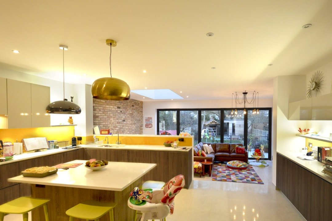 Architect designed house extension Grange Park Enfield N21 Internal view 1200x800 Grange Park, Enfield N21 – House extension and alterations