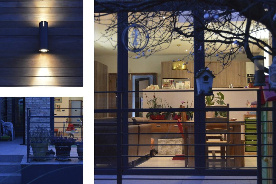 Architect designed house extension Grange Park Enfield N21 Night view 1200x800 Grange Park, Enfield N21 – House extension and alterations