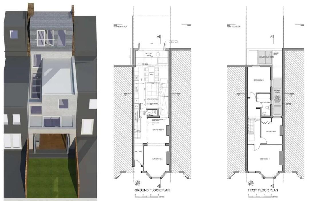 Architect designed house extension West Hampstead Camden NW6 Design floor plans 1200x779 West Hampstead, Camden NW6 | House extension