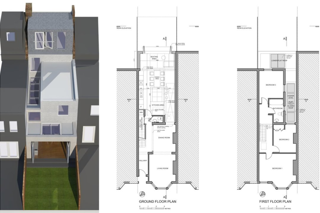 Architect designed house extension West Hampstead Camden NW6 Design floor plans 1200x800 West Hampstead, Camden NW6 | House extension