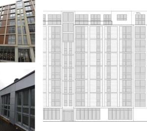 Architect designed penthouse extension Barbican Islington EC1Y East Elevation 1 1 300x266 Barbican, Islington EC1Y | Penthouse extension