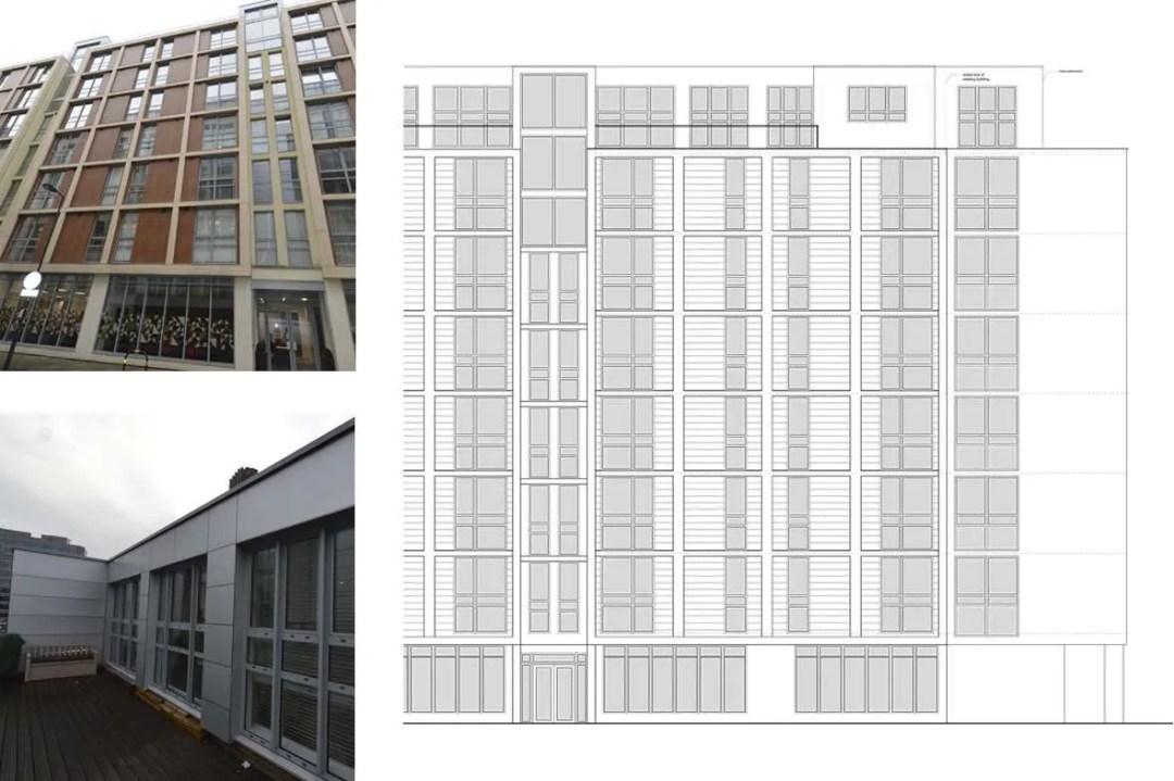 Architect designed penthouse extension Barbican Islington EC1Y East Elevation 1 1 Barbican, Islington EC1Y   Penthouse extension