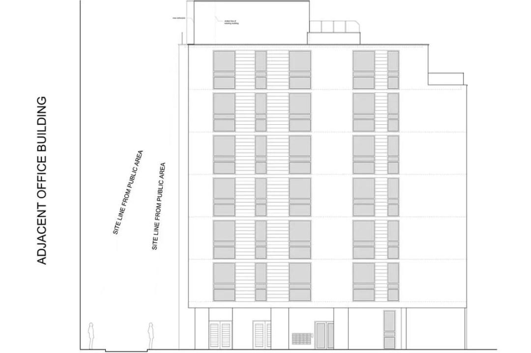 Architect designed penthouse extension Barbican Islington EC1Y North Elevation 1 Barbican, Islington EC1Y   Penthouse extension