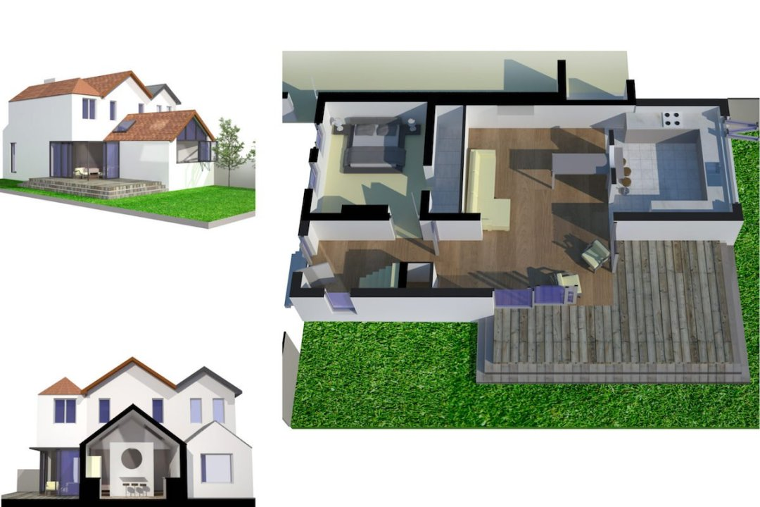 Architect designed residential extension Barnet EN5 3D visualisations 1200x800 High Barnet EN5 | Residential extension to locally listed house