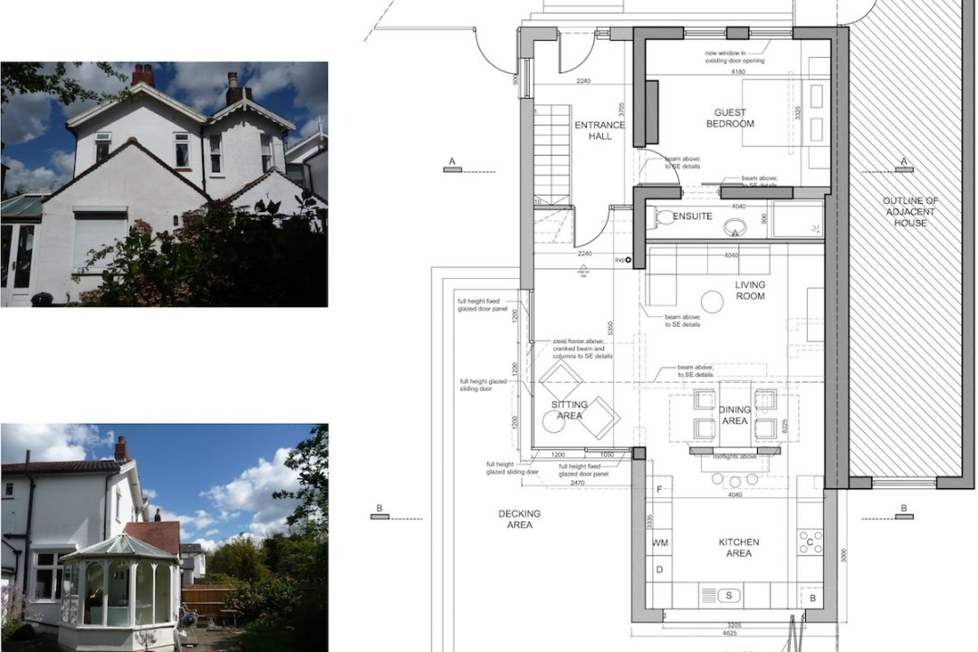Architect designed residential extension Barnet EN5 Ground floor plan 2 1200x800 High Barnet EN5 | Residential extension to locally listed house