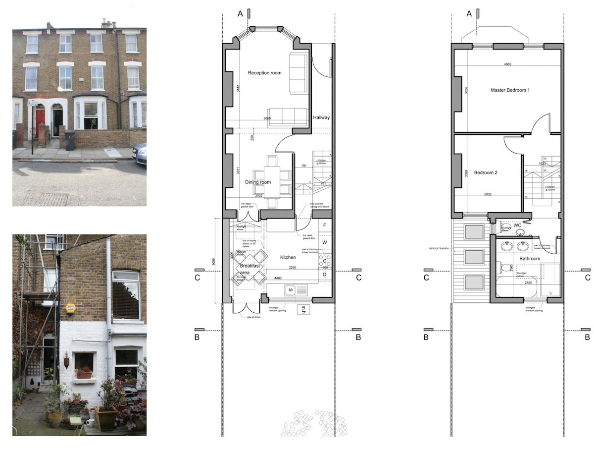 Clapham North Lambeth SW4 House Extension Design Floor Plans 1200x800  Clapham North, ...