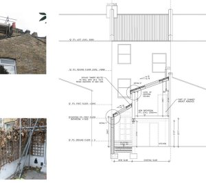Clapham North Lambeth SW4 House extension Technical section 300x266 Clapham North, Lambeth SW4 | House extension