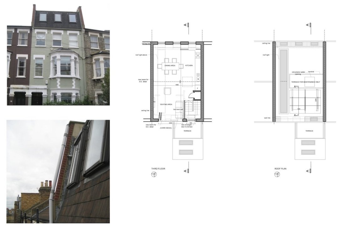 Fulham Broadway SW6 Fulham and Hammersmith Flat alterations to mansard roof Floor plans 1200x800 Fulham Broadway, H & Fulham SW6 | Flat alterations to Mansard roof