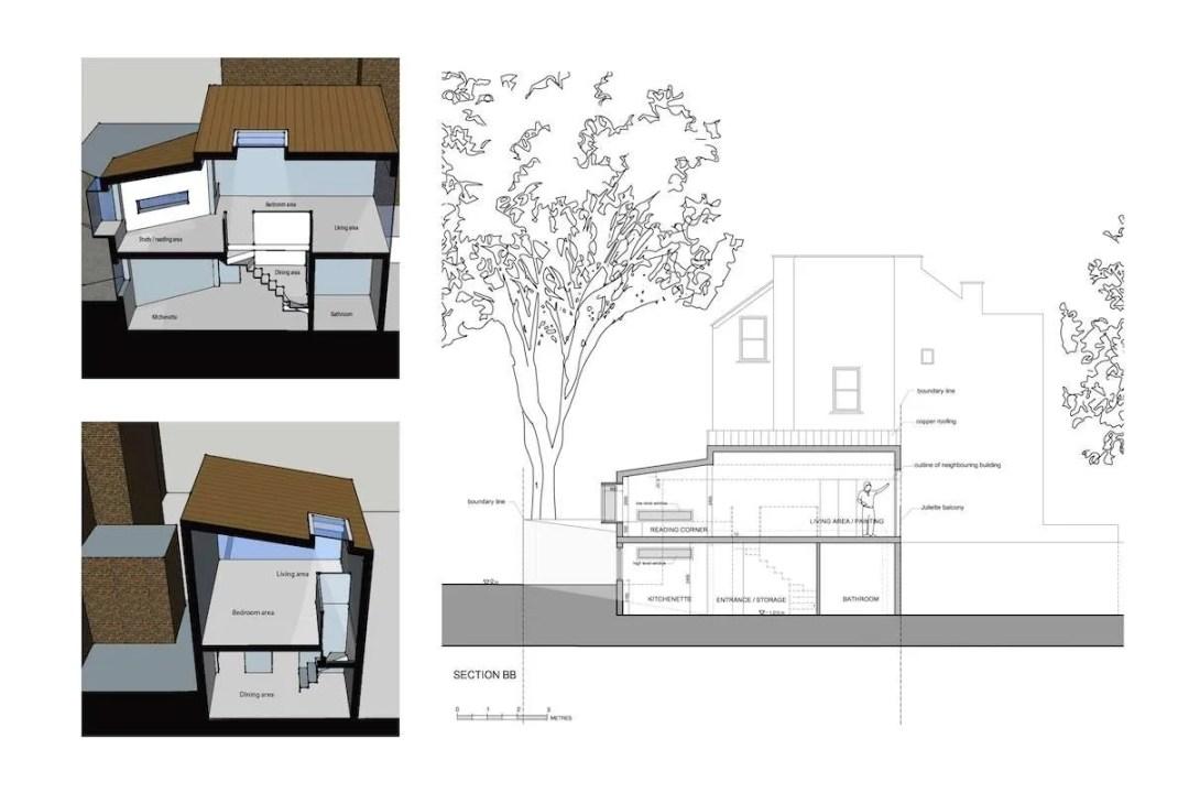 Highgate Haringey N8 Residential development feasibility study Sections 1200x800 Highgate N8 | Residential development feasibility study